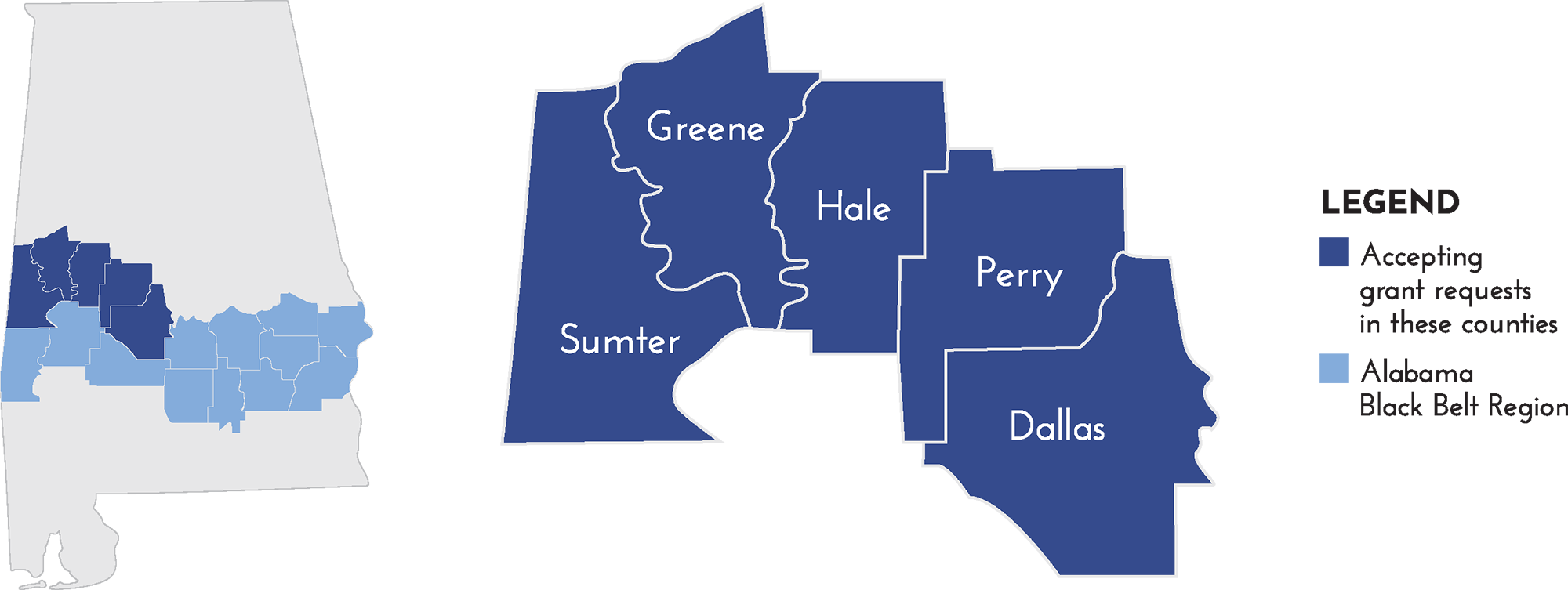 Black Belt counties of Alabama
